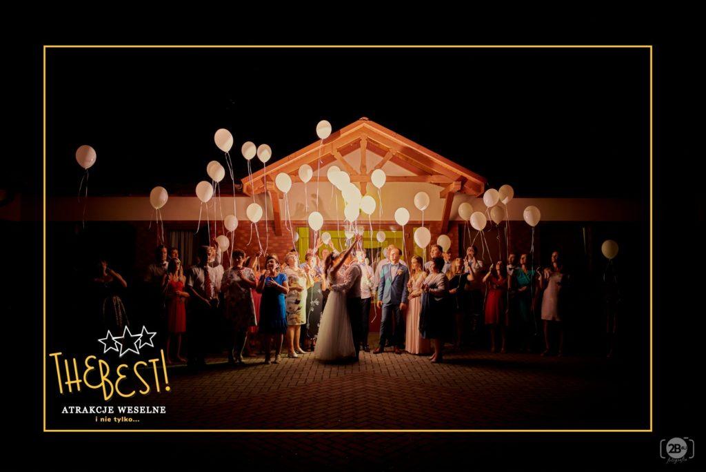 swiecace balony na wesele